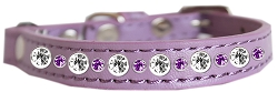 Posh Jeweled Cat Collar Lavender Size 10